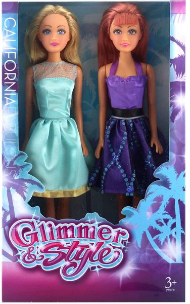 Glimmer & Style Fashion Doll 2 Pack