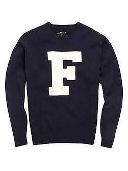 Men's French Connection Typo wool crew neck jumper