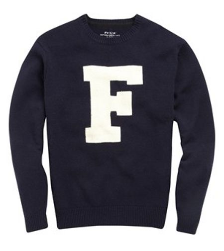French Connection Typo wool crew neck jumper