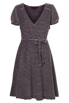 Cambridge stripe wrap dress