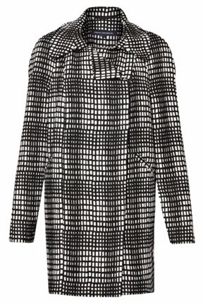 French Connection Check Print Coat
