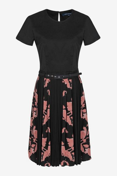 French Connection Vine bloom shortsleeve flared dress
