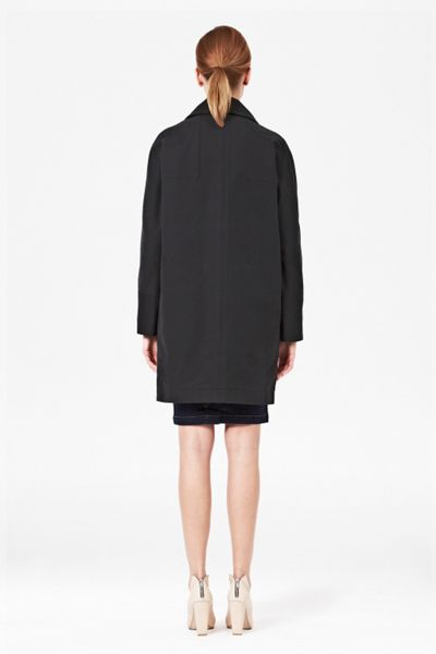 French Connection Audrey cotton raglan coat