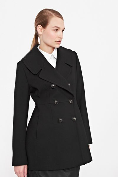 French Connection Art coating pinch waist coat