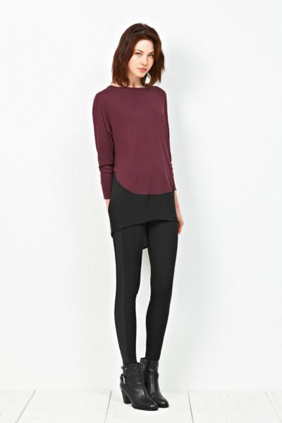 Great Plains Romy jersey cntrast slouch top