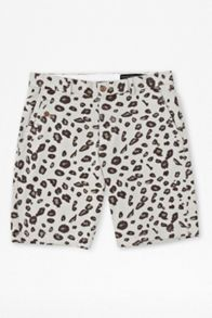 Pelt print cotton shorts