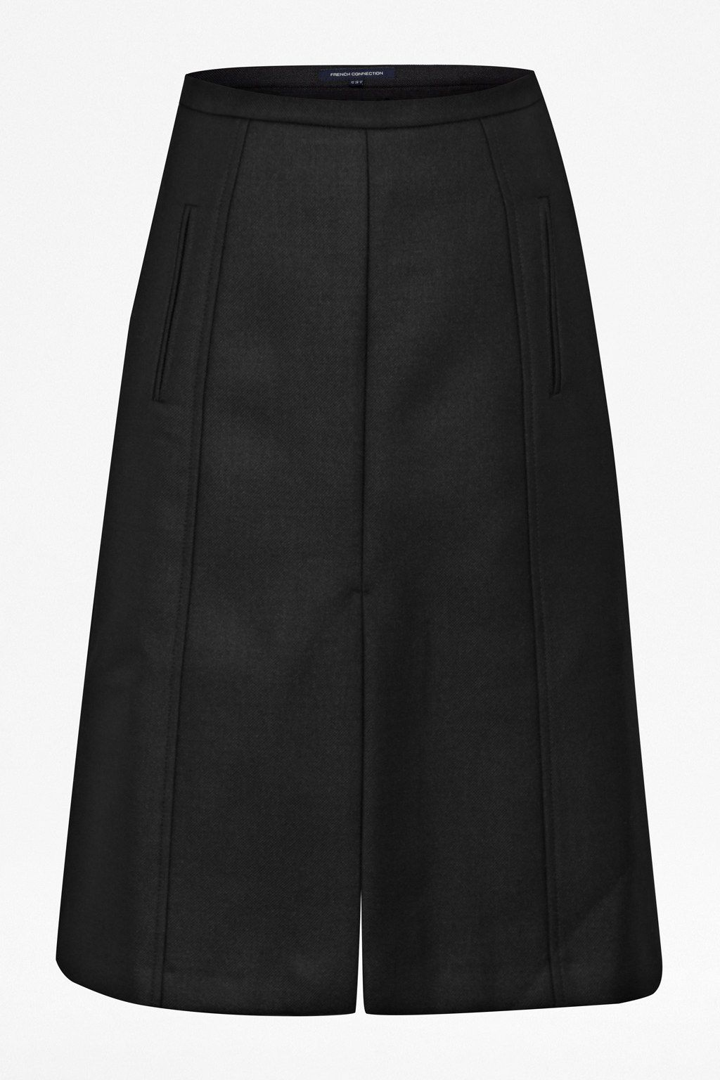 Fast battersea wool knee length skirt
