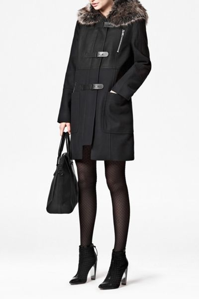 French Connection Fast battersea wool duffle coat