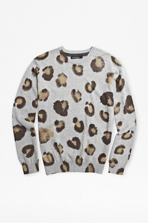 Tusker printed cotton jumper