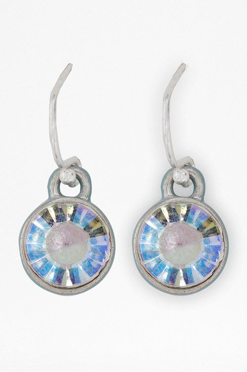 Single enamel backed earrings