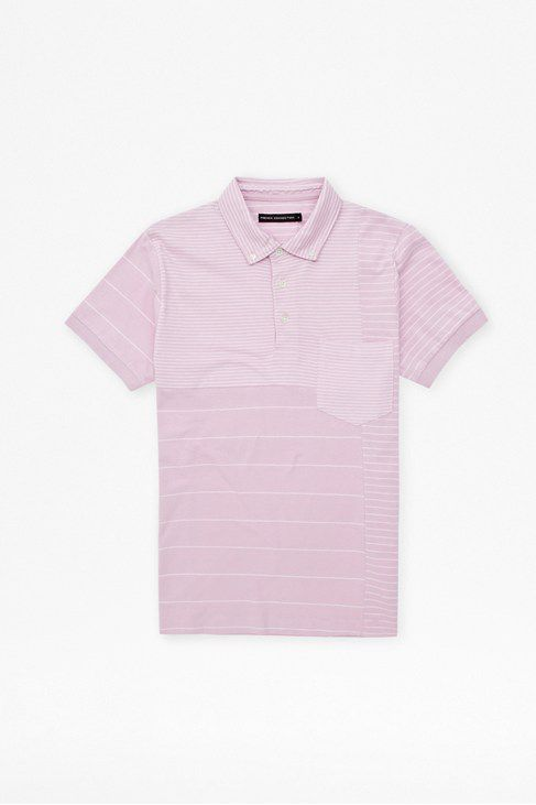 Battle stripes polo t shirt