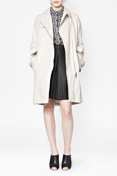French Connection Freeway Cotton Belted Trench