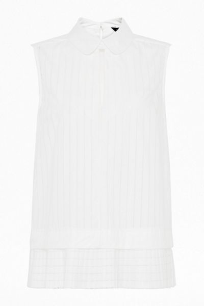 French Connection Pixel cotton sleeve less top