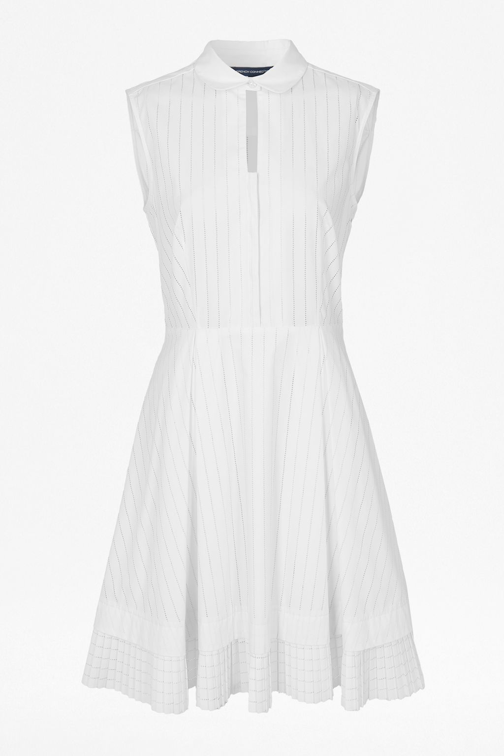 Pixel cotton sleeveless shirt dress