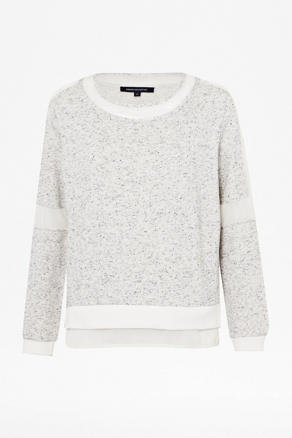 Speckled long sleeve sweat