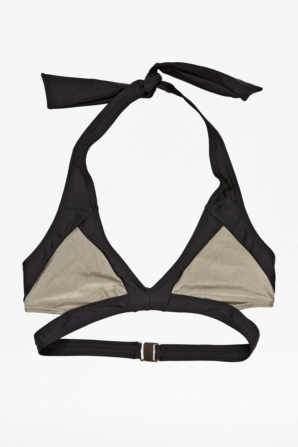 Colourblock swim wrap top
