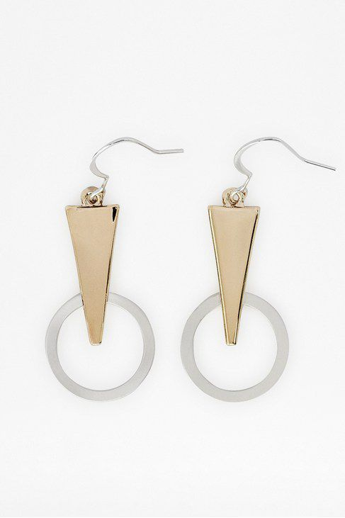 Geo triangle &circle link earrings