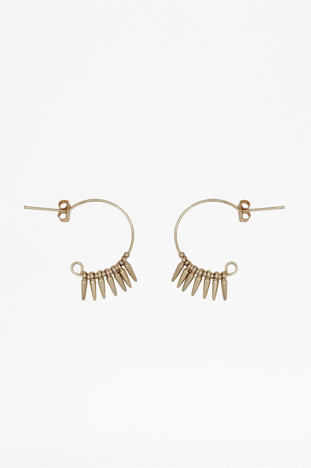 Mini spike & ball hoop earrings
