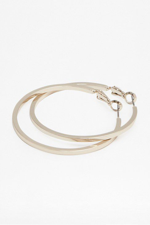 40mm round cut hoop earrings