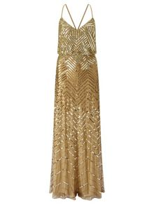 Adrianna Papell Sleeveless sequin evening dress