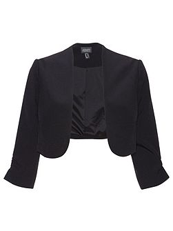 3/4 length sleeve crepe bolero jacket