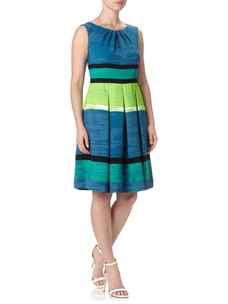 Adrianna Papell Multicoloured Stripe Dress