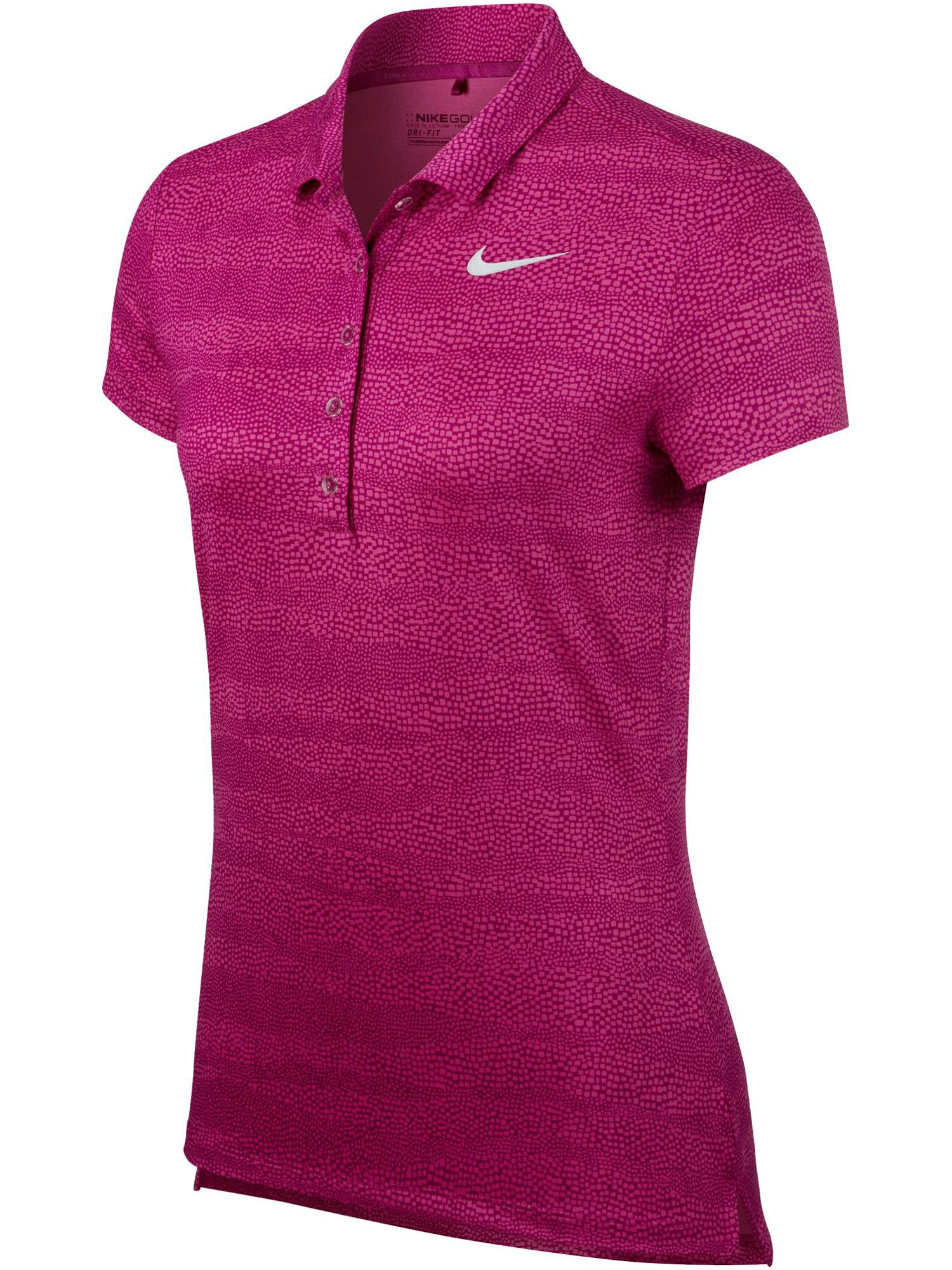 Nike Golf Precision Zebra Print Golf Polo, Red
