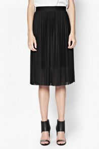 Leah jersey pleated skirt