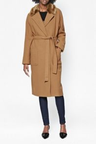 Imperial wool belted maxi coat