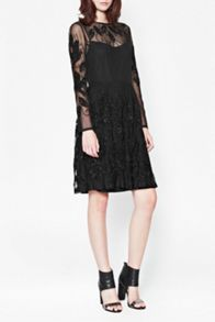 French Connection Socoro sequins semi-sheer dress