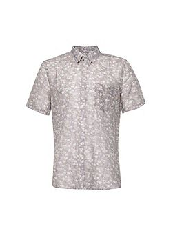Monet Freedom Floral Slim Fit Short Sleeve Shirt