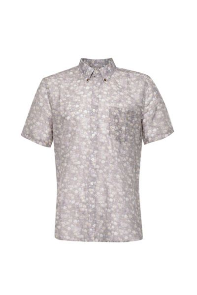 French Connection Monet Freedom Floral Slim Fit Short Sleeve Shirt