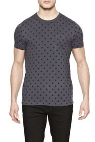 French Connection Kalenjin Dot Marlon Polka Dot Crew Neck T-Shirt