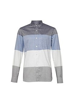 Girodat Stripe Slim Fit Long Sleeve Shirt