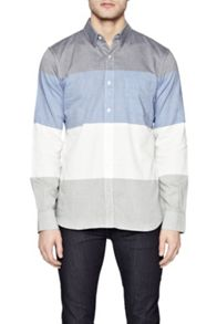 French Connection Girodat Stripe Slim Fit Long Sleeve Shirt