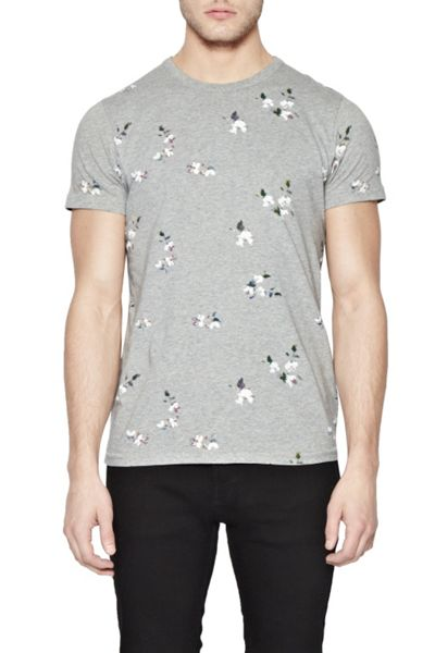 French Connection Blossom Print Crew Neck Regular Fit T-Shirt