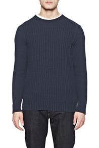 Parker Knits Ribbed Crew Neck Jumper