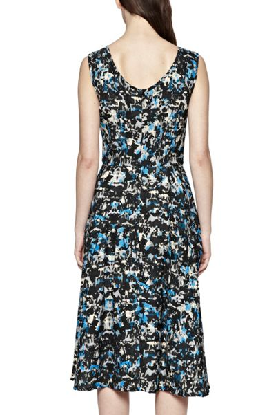 Great Plains Marble Pop Pleated Dress