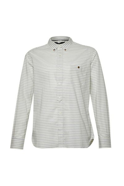 French Connection Boilly Stripe Slim Fit Long Sleeve Shirt