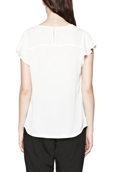 Great Plains Courtney Crepe Frill Top