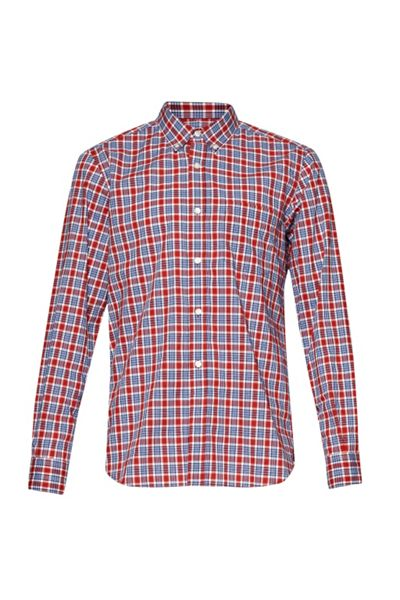 French Connection Check Slim Fit Long Sleeve Button Down Shirt