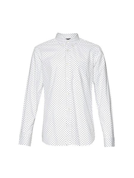 French connection polka dot slim fit long sleeve button for Button down polka dot shirt