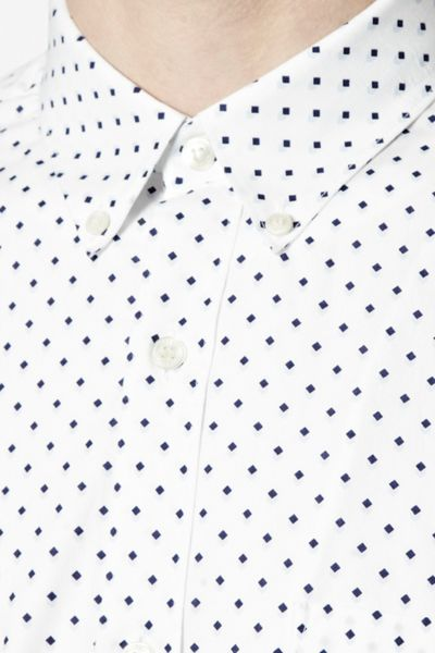 French Connection Polka Dot Slim Fit Long Sleeve Button Down Shirt