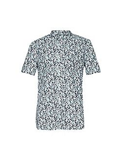 Pattern Slim Fit Short Sleeve Button Down Shirt