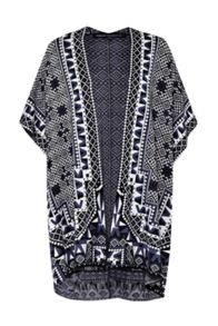 French Connection Geo Jacquard Shawl Jumper