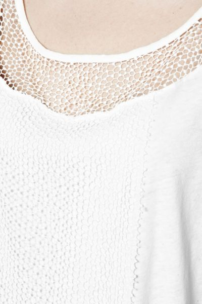 Great Plains Lacy Mix-Up Lace Longline T-Shirt
