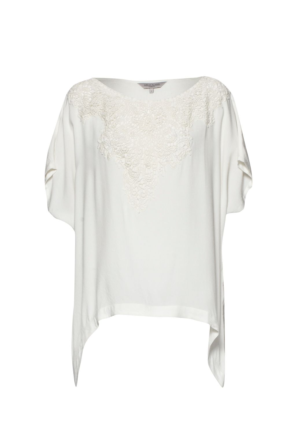 Great Plains Great Plains Dreamcatcher Lace Tunic Top, White