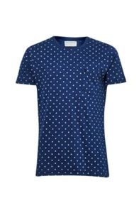 French Connection Indigo World Wide Dot T-shirt