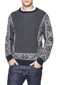 French Connection Fair Isle Printed Jumper