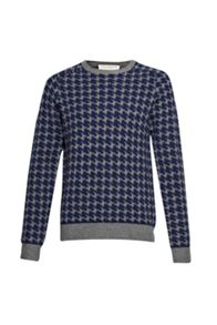 French Connection Dogtooth Wool Knit